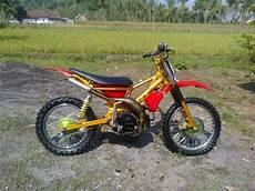 Modif Motor Bebek Jadi Mini Trail by Modifikasi Motor Trail Terkeren Terbaru Jadul Dari Klx