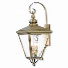 livex lighting cambridge 4 light brass outdoor wall lantern 2036 01 the home depot
