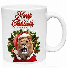 lion merry christmas santa 11oz ceramic high quality coffee mug ebay