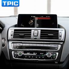 automobile air conditioning service 2012 bmw 5 series parking system carbon fiber car interior air conditioning cd panel cover trim for bmw f20 1 series 118i 120i