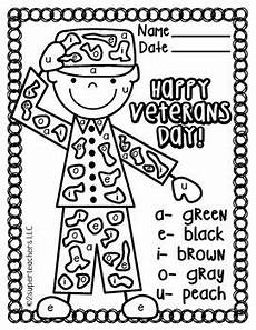 s day worksheets elementary 20348 veterans day free color code with images veterans day activities fall kindergarten