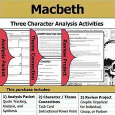 worksheets adults 18778 macbeth character analysis packet theme connections project macbeth character analysis