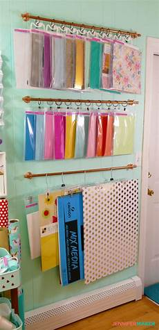 diy hanging storage system for craft supplies maker
