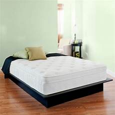 13 inch therapy deluxe euro box top spring mattress full bed comfort new ebay