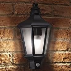 auraglow pir motion sensor vintage outdoor security wall light chester safield distribution