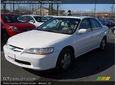 Taffeta White   1998 Honda Accord EX V6 Sedan   Ivory