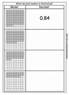 decimal hundredths worksheet 7154 decimal model free printable worksheets worksheetfun