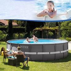 Intex 488x122 Swimming Pool Steel Wall Metal Frame New