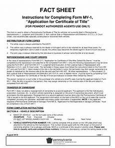 2014 pa instructions for completing form mv 1 fill online printable fillable blank pdffiller