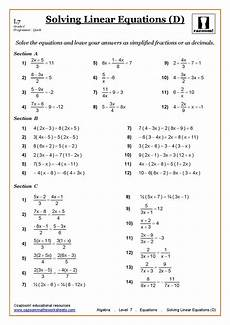 algebra worksheets year 9 with answers 8654 solving linear equations cazoom maths worksheets