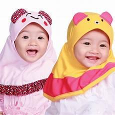 Permata Jilbab Bayi Banyak Warna Motif Karakter