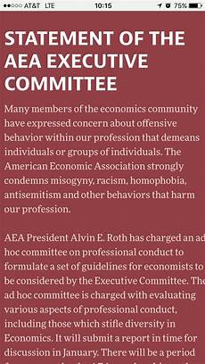 aea job market nabeela n alam on twitter quot statement of aea executive committee on professional conduct and