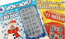 festive with lottery scratch cards