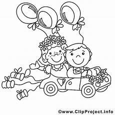 ausmalbild brautpaar im hochzeitsauto ausmalbilder