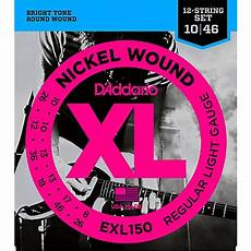 D Addario Exl150 Nickel Xl 12 String Electric Guitar