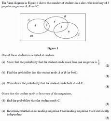 probability worksheet igcse 5803 questions venn diagrams examsolutions