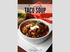 10 Minute Taco Soup   Feel Great in 8 Blog
