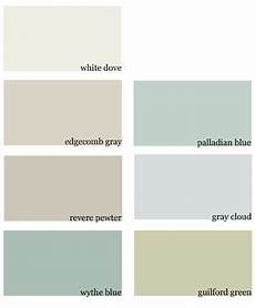 benjamin moore white dove edgecomb gray revere pewter wythe blue palladian blue gray cloud
