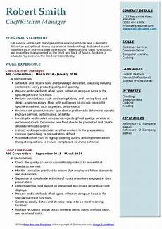 kitchen manager resume sles qwikresume