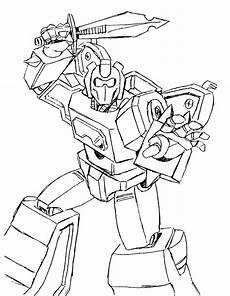 Sketsa Gambar Mewarnai Hitam Putih Robot Transformers