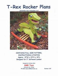 woodworking plans for rocking t rex dinosaur for toddlers 107 dino rocker rocking plans
