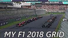 Grid Formel 1 - my f1 2018 grid
