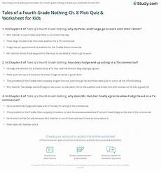 tales of a fourth grade nothing ch 8 plot quiz worksheet for kids study com