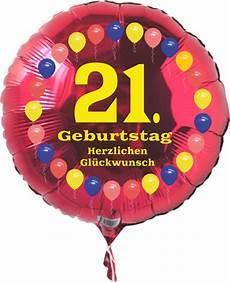 Luftballon 21 Geburtstag Ballonsupermarkt Onlineshop De