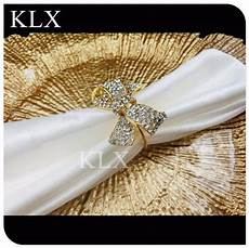 200pieces lot wholesale 3 color plating wedding napkin rings buckle in gold bow spark