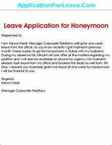 sle leave application for honeymoon