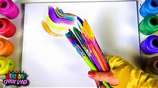 learn colors for kids and color multi paint brush and blend coloring page youtube