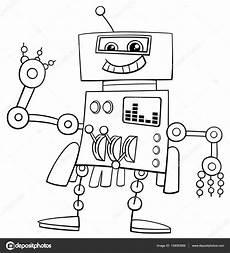 Ausmalbild Roboter Auto Lustige Roboter Ausmalbilder Stockvektor 139083684