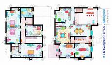 simpsons house floor plan the simpsons house blueprint 03 jpg 1732 215 1024 house