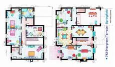 simpsons house floor plan the simpsons house blueprint 03 jpg 1732 215 1024 house