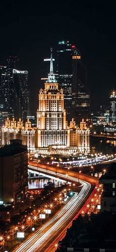 Moscow City Wallpaper For Iphone by Moscow City Roads Lights Russia Iphone Xs Max X