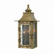acclaim lighting st charles collection 2 light aged brass outdoor wall light fixture
