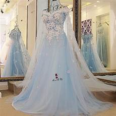 baby blue wedding dress vintage bohemian wedding gowns pink flowers bride dresses 2018 vestido