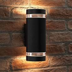 elton black double up and down led wall light transform the outside or inside of your home