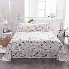 100 cotton bed sheet single double full queen king size floral cotton flat sheets bed cover