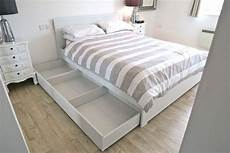 ikea brusali king size bed frame with added leirsund