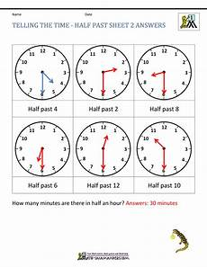 time reading worksheets 3166 telling time worksheets o clock and half past