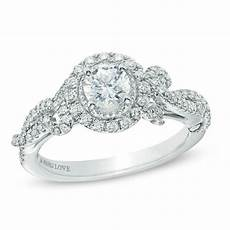 vera wang love collection 7 8 ct t w diamond vintage style engagement ring in 14k white gold