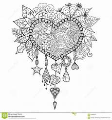 shape floral catcher for coloring book for