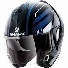 Shark Evoline Series3 Corvus Black White Blue Helmet