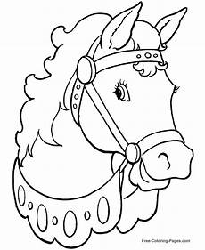 Malvorlage Pferd A4 Printable Coloring Pages 004