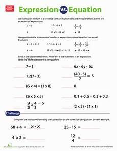 expression equation worksheet education com