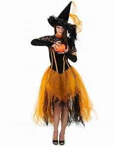 déguisement halloween original femme orange lace witch costume for adults costumes and