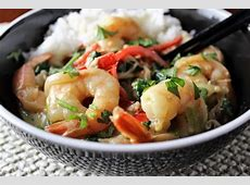 thai shrimp and vegetable curry_image