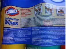 clorox disinfecting wipes sds sheets