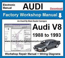 service repair manual free download 1990 audi v8 navigation system audi workshop repair manuals